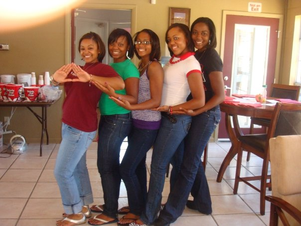 Ebony sorority sisters